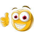 Thumb up emoticon for you design vector