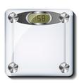 Digital bathroom scale vector