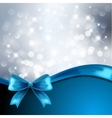 Holiday gift cards with blue ribbon vector
