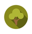 Flat design concept green tree with long sha vector