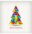 Christmas tree in rainbow colors vector
