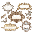 Set of royal vintage frames vector