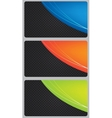Brochure business card banner metal glass abstract vector