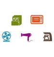 Home supply icons vector
