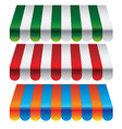 Set of striped awnings for store - vector