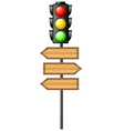 Traffic lights with arrowboards vector