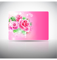 Gift card with roses vector