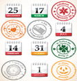 Set of stamps and calendars vector