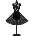 Mannequin with skirt vector