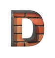 Brick cutted figure d paste to any background vector