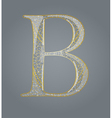 Abstract golden letter b vector