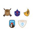 Winter badges emblems vector