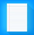 Notebook paper isolated blue background empty vector