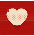 Valentine heart label background vector