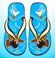 Japanese geta sandals vector