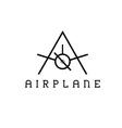 Airplane monogram vector