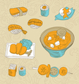 Japan food icons - vector