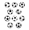 Set of soccer and football balls vector