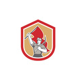 Coal miner hardhat pick axe flag shield vector