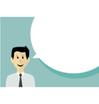 Businessman with speech bubble vector