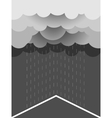 Rain image with dark clouds in wet day vector