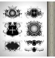 Medieval heraldry shields vector