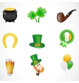 St patricks day icons vector