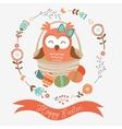 Cute easter owl vector