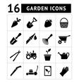 Set icons of garden vector