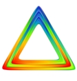 Bright triangle logo rainbow colors vector