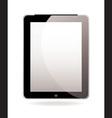 Modern hand held computer tablet vector