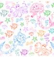 Sea life pattern vector
