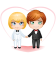 Gay grooms getting married 2 vector