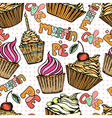 Cake seamless pattern vector