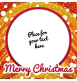 Christmas frame with place for text vector