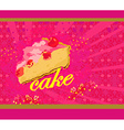 Cake abstract card vector