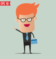 Business man holding bag - - eps10 vector