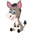 Cute baby donkey cartoon vector