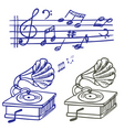 Music doodle vector