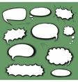 Set comics bubbles vector