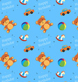 Children toys happy birthday pattern vector