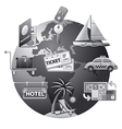 Travel concept icon grey vector