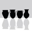 Jar black silhouette vector