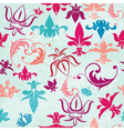 Seamless pattern with vintage heraldic silhouettes vector