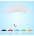 Set of 6 umbrellas in different colors vector