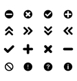 Set of flat icons - arrows and various signs vector