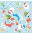 Christmas background flat design vector