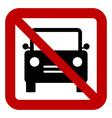 No car sign vector
