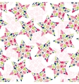 Abstract mosaic star texture vector