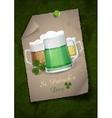 Mug of green beer for st patricks day vector